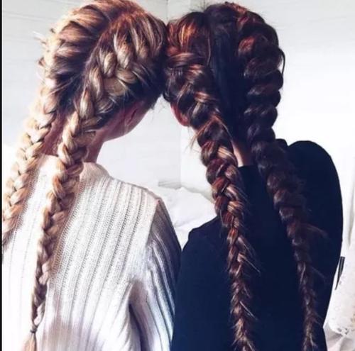 Варианты и схемы плетения двух французских кос