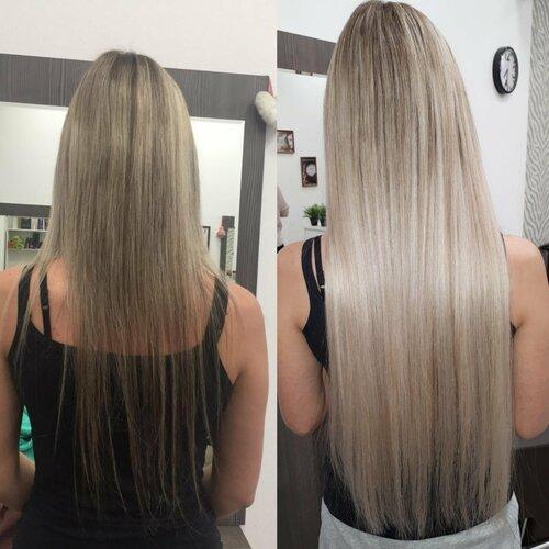 Кератин на нарощенные волосы