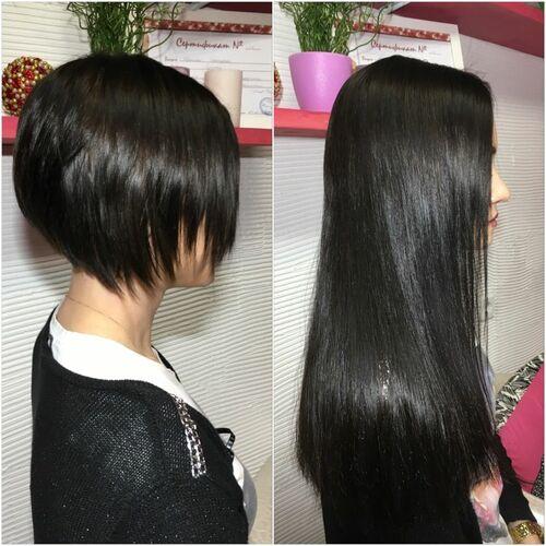 Наращивание волос на короткие стрижки