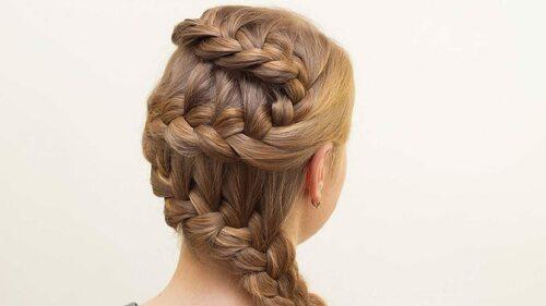Коса колосок для ребенка — схема плетения