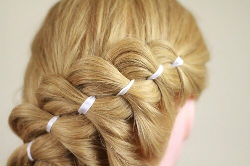 Красивые четырехпрядные косы — схемы плетения