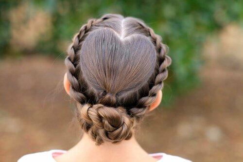 Техника плетения прически в форме сердечка из волос