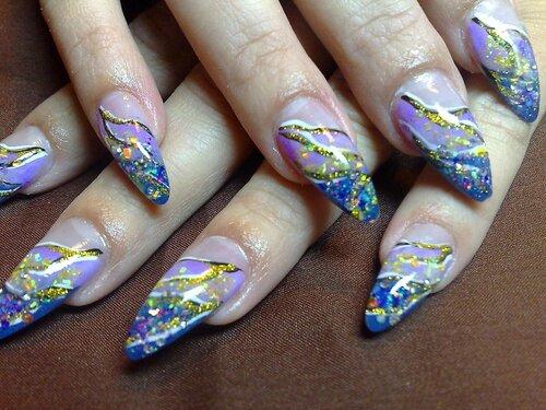 Аквариумное наращивание ногтей