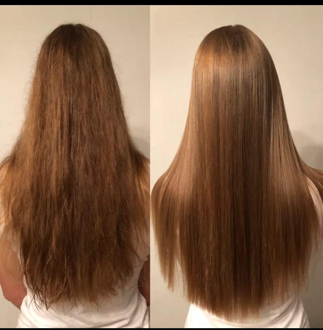 Волосы с кератином