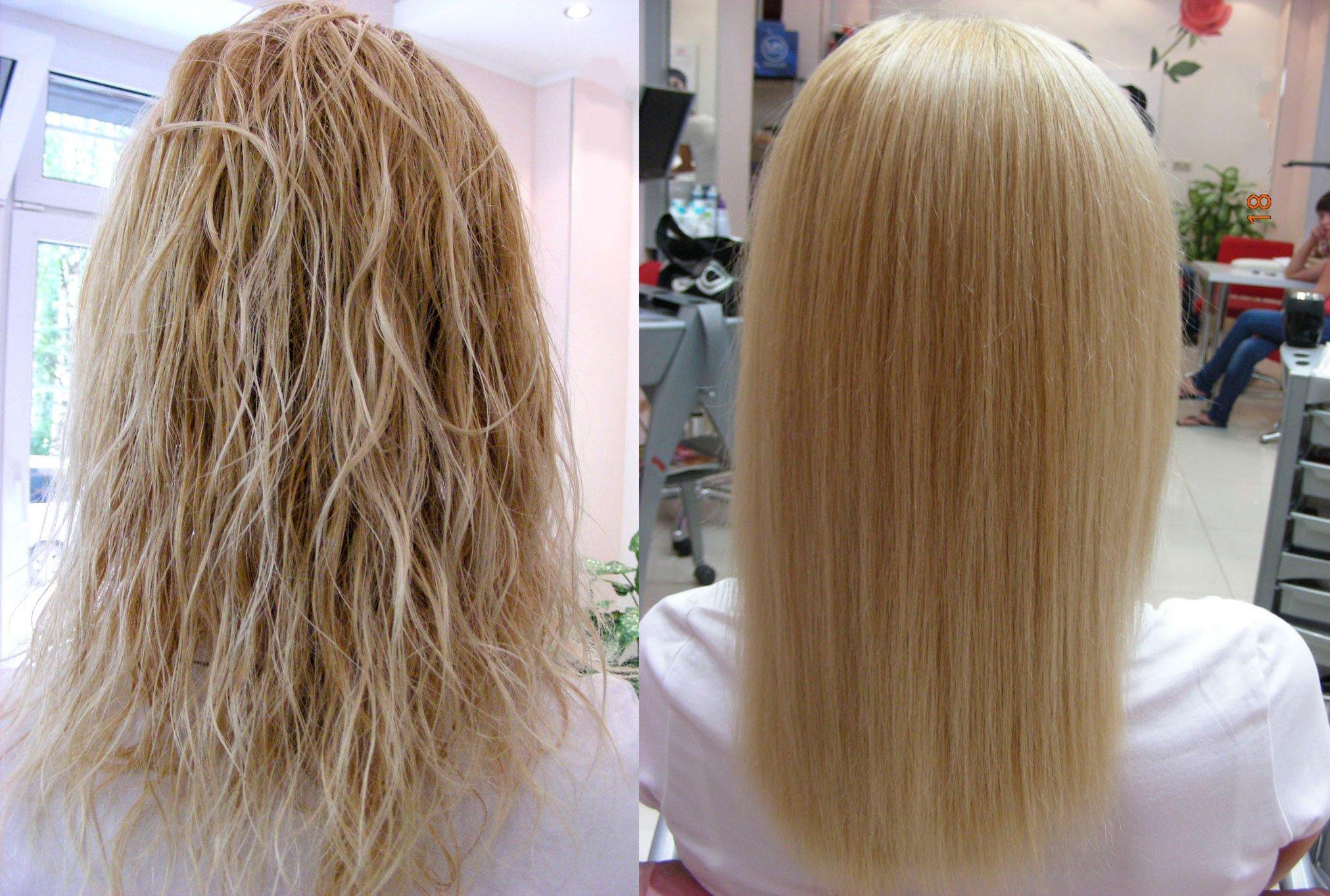 Как смыть кератин с волос