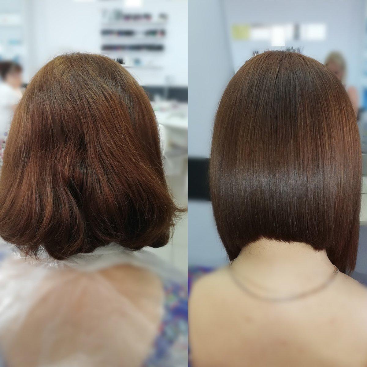 ботокс на короткие волосы