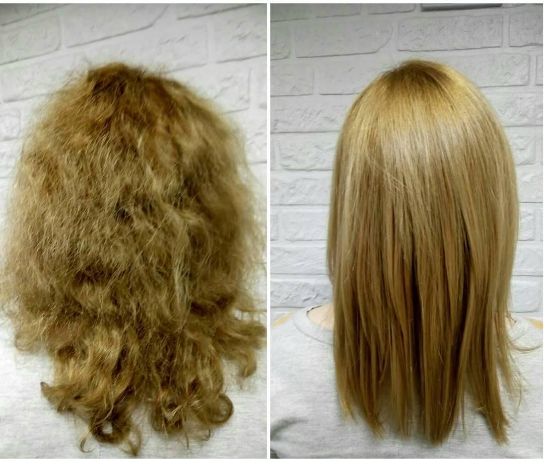 Ботокс на кудрявые волосы