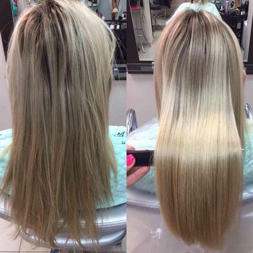 выпрямление волос ботоксом