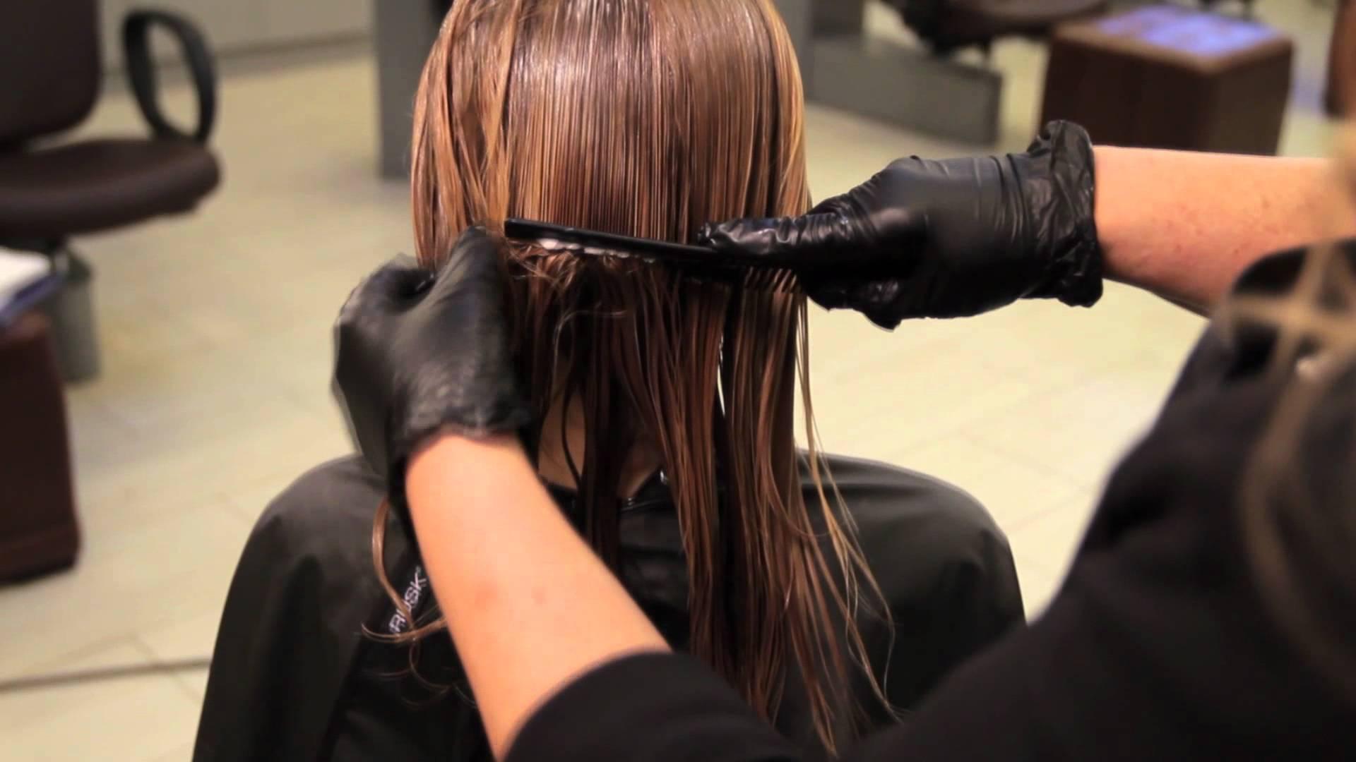 Японское кератиновое выпрямление волос