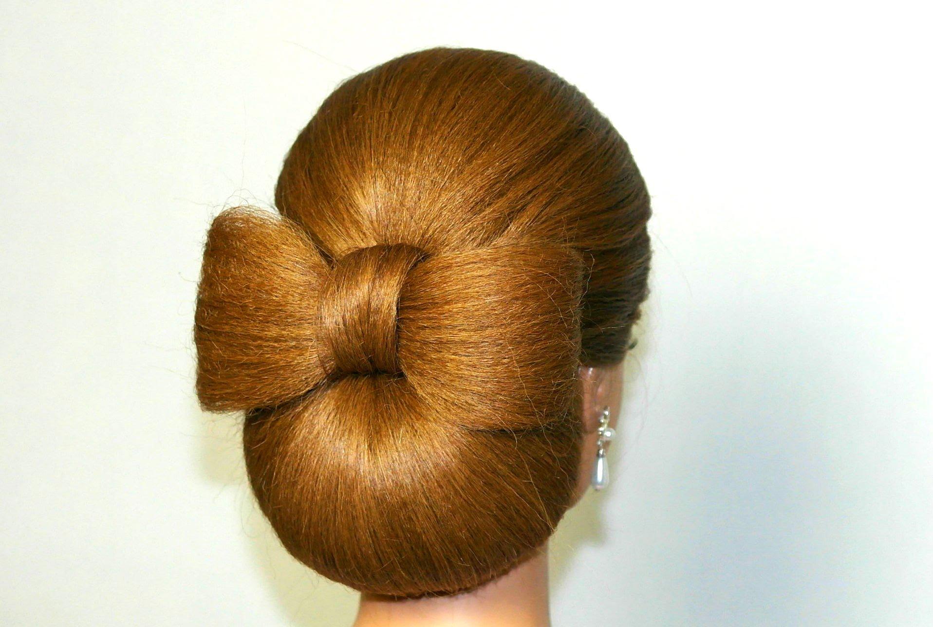 Бублик на волосах разной длины