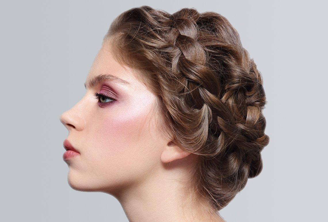 Косичка вокруг головы для девочки пошагово