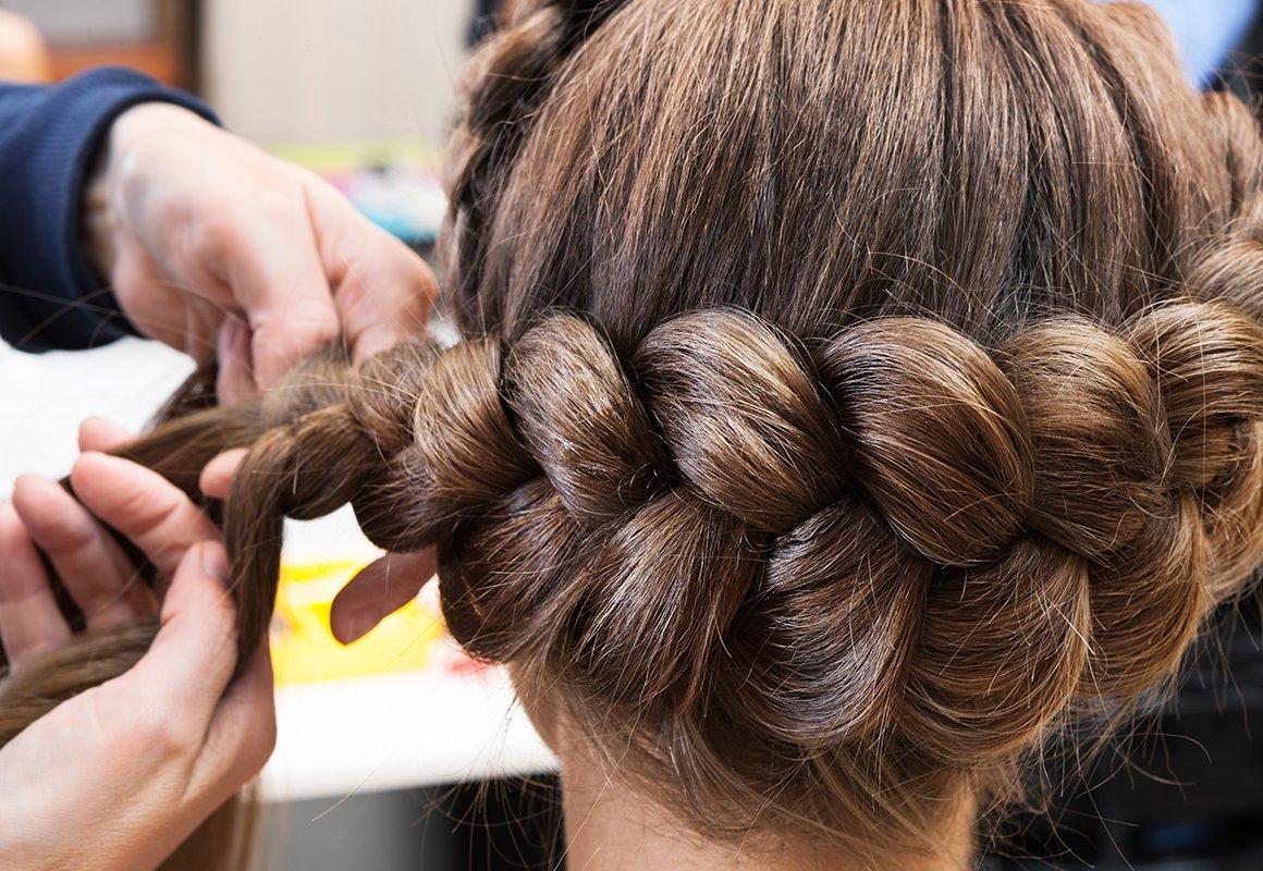 Объемная коса без плетения