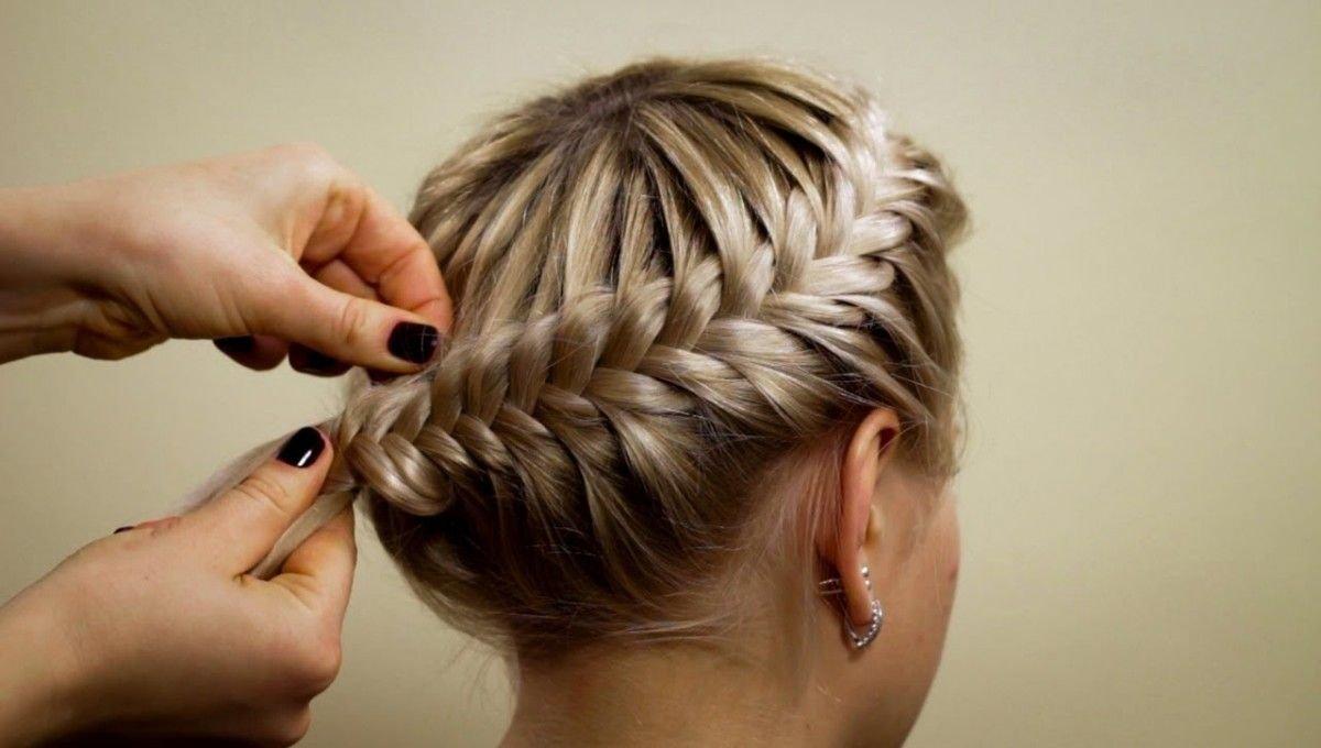 объемные косы на средние волосы, а как плести