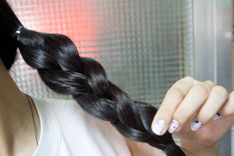 косички на мокрые волосы