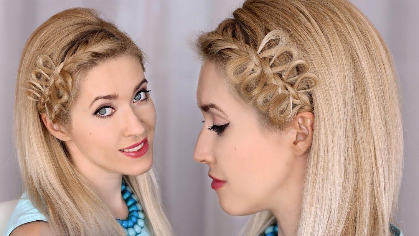 Красивая косичка на короткие волосы