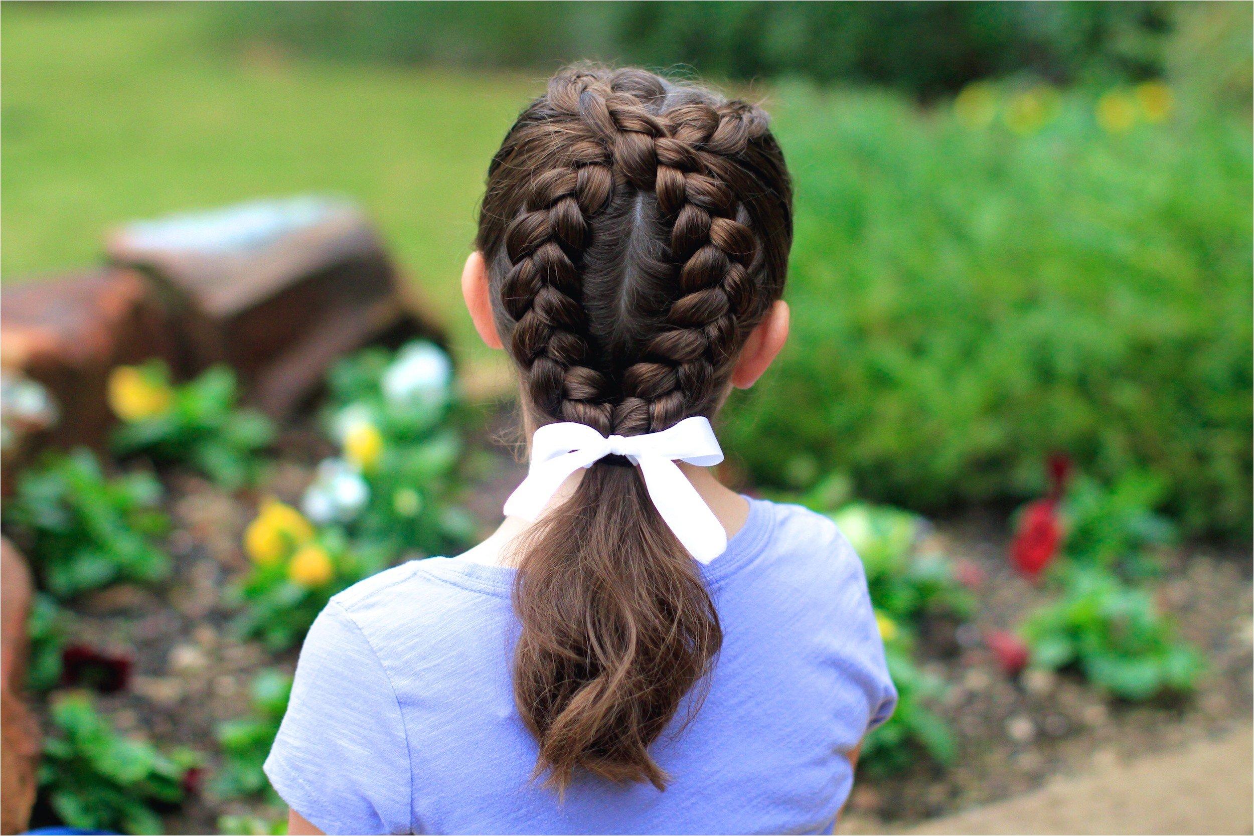 Простые косы на длинные волосы