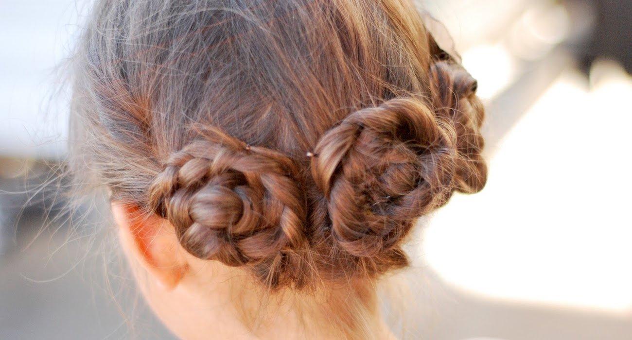 Плетения косы по кругу головы
