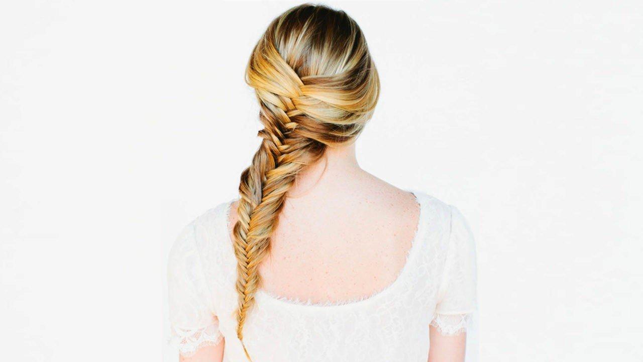 Пошаговая схема плетения косы рыбьего хвоста