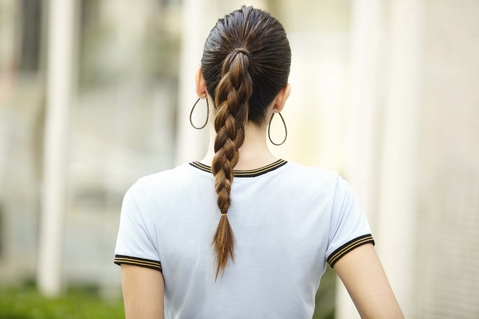 Коса без плетения с резинками (пошагово)