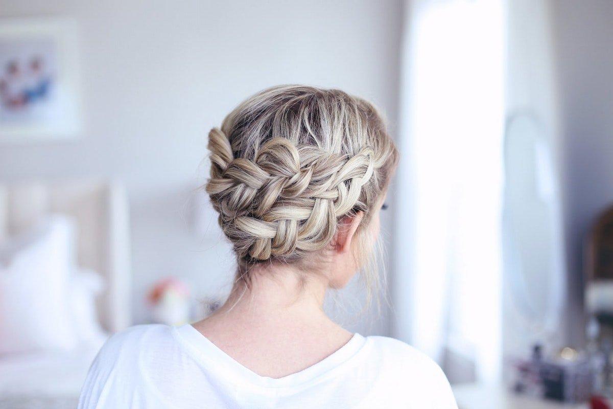 Плетение колоска по кругу головы