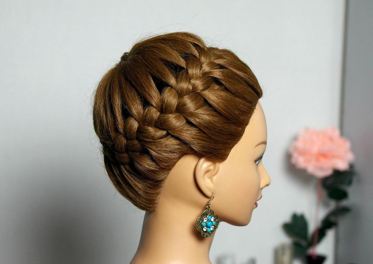 Прически с объемными косами
