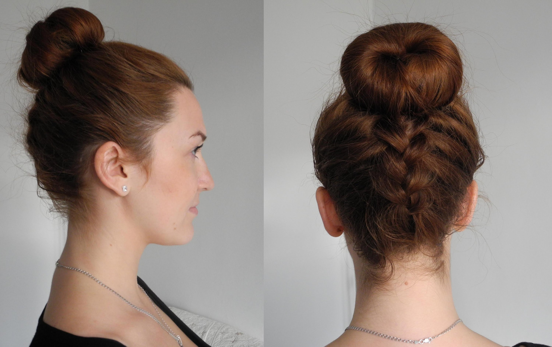 Как сделать на волосах шишку