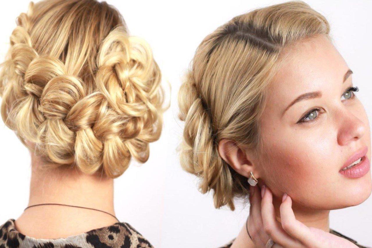 Ыранцузские косы на короткие волосы