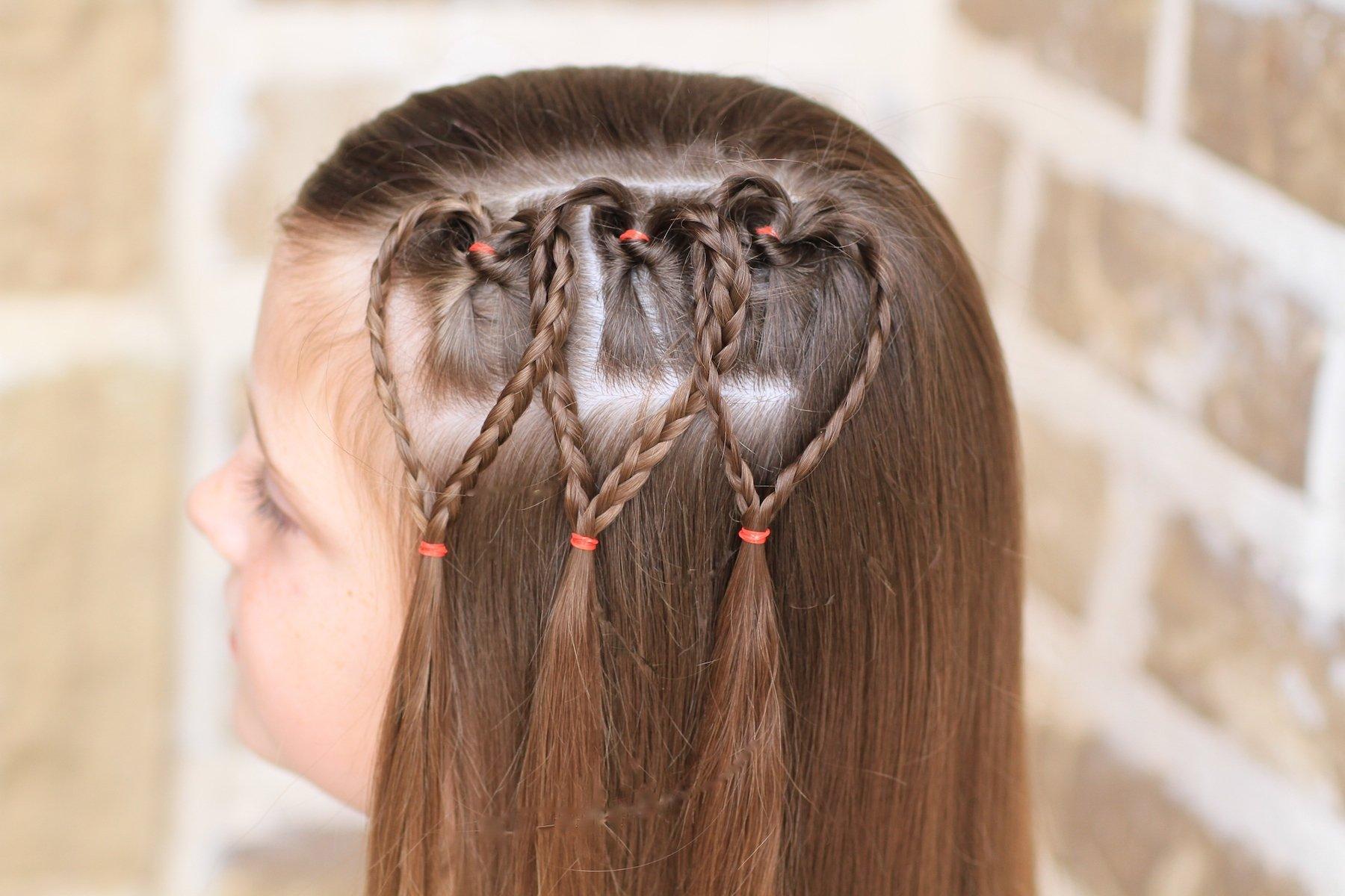как заплести сердечко из волос