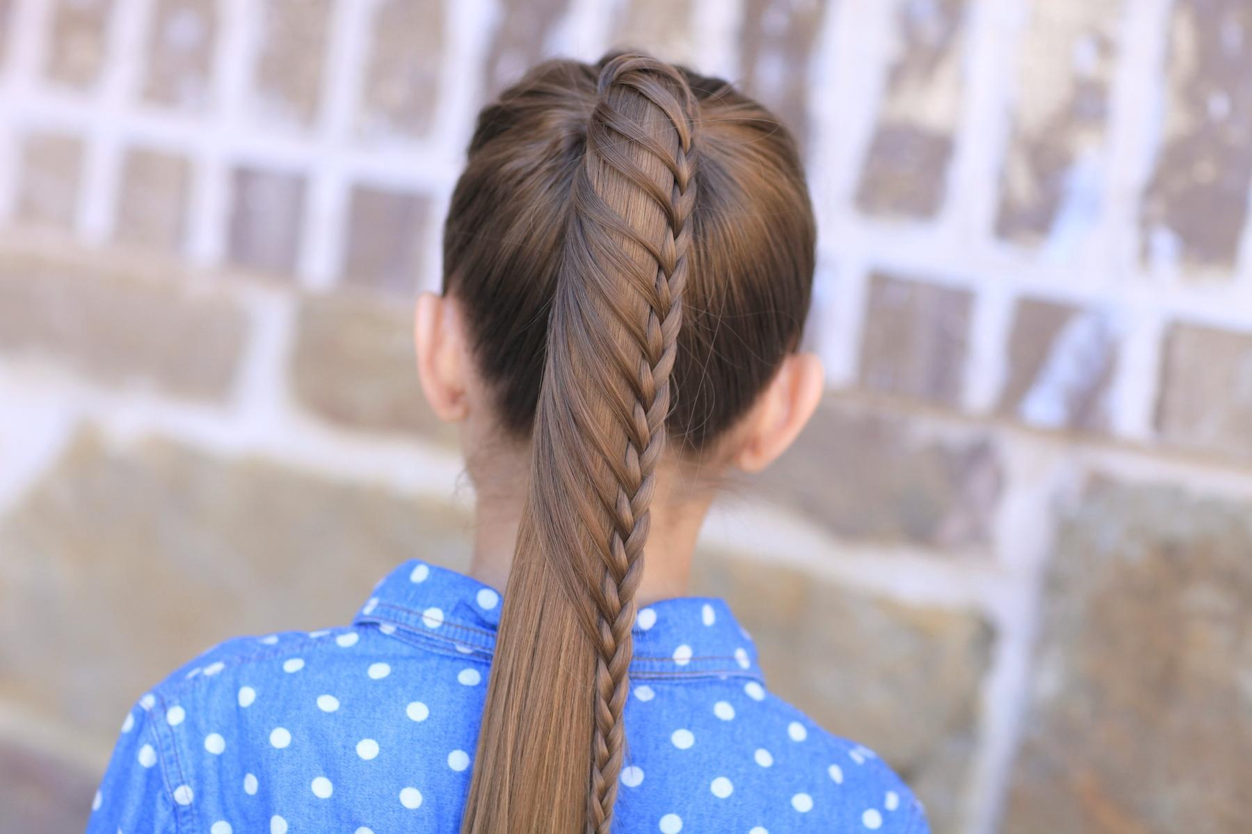 Косы с резинками на длинные волосы (пошагово)