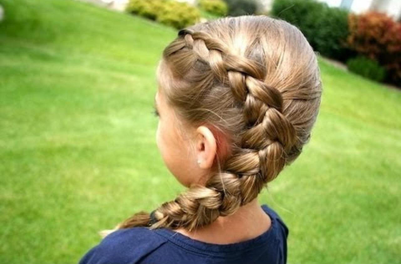 косичка для девушек на длинные волосы