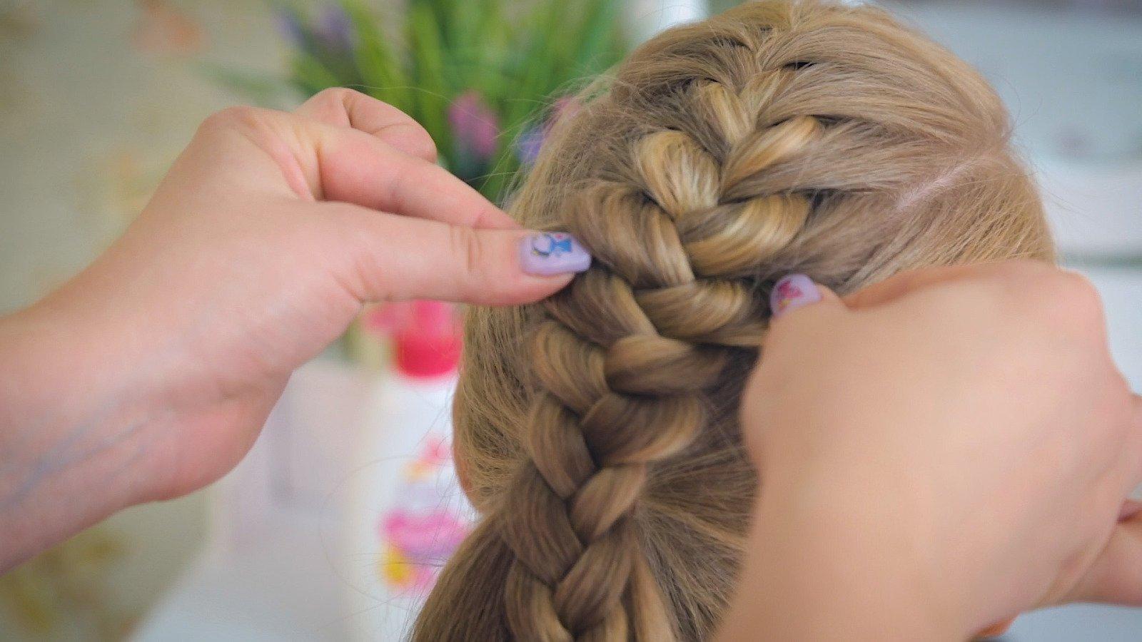 Как заплести колосок девочке на короткие волосы