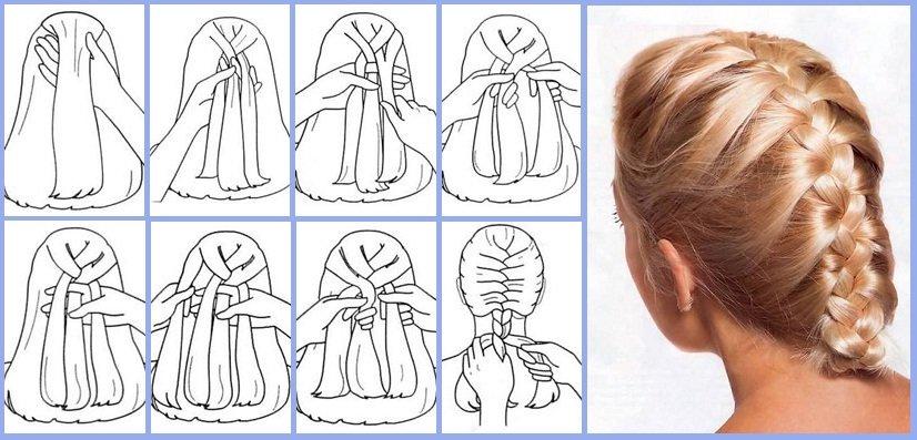 Два колоска — схемы плетения