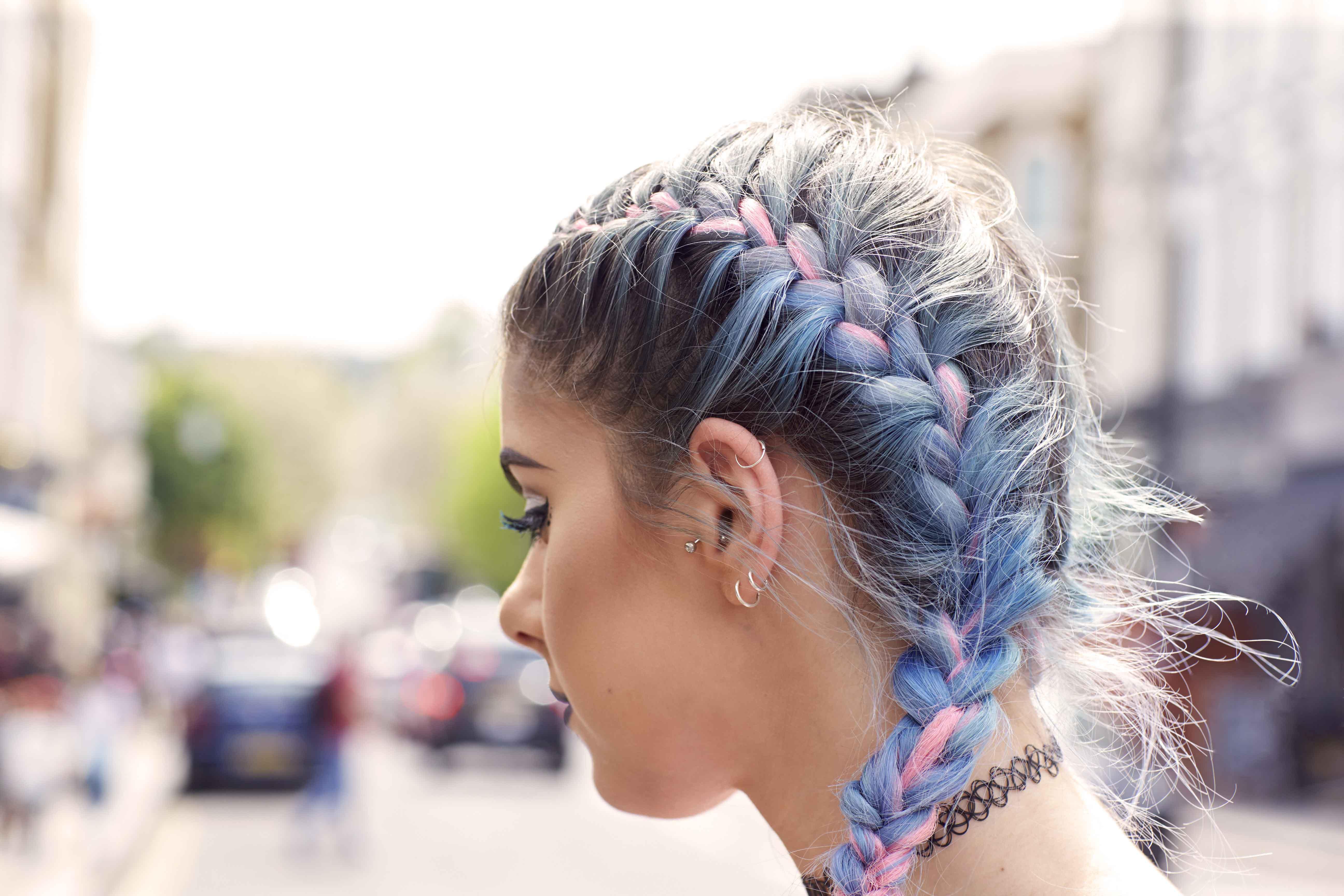 Цветные косы из канекалона