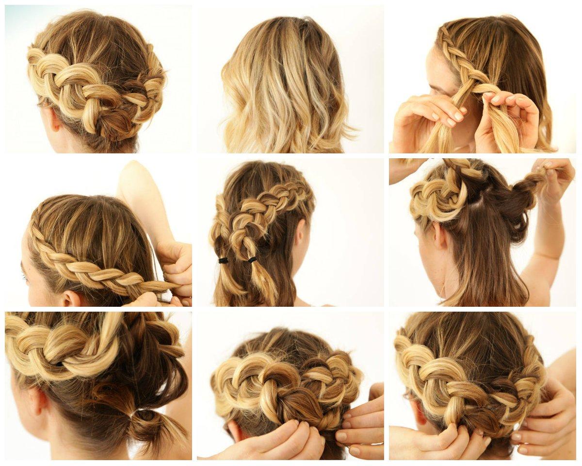 прически греческая коса из локонов