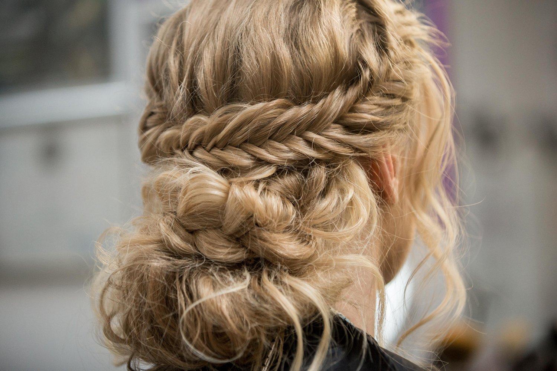Пышные косы на длинные волосы
