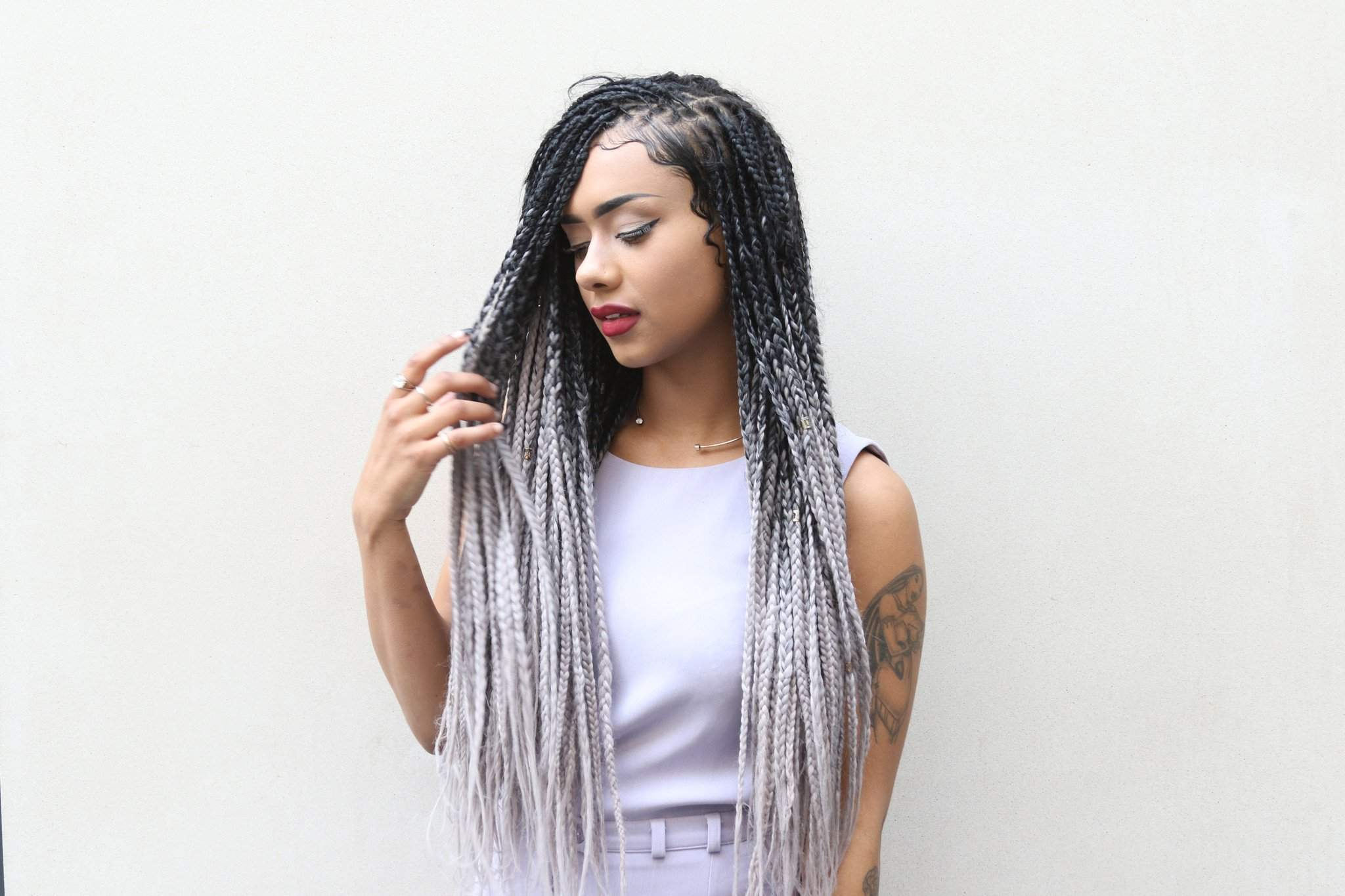Плетение африканских кос