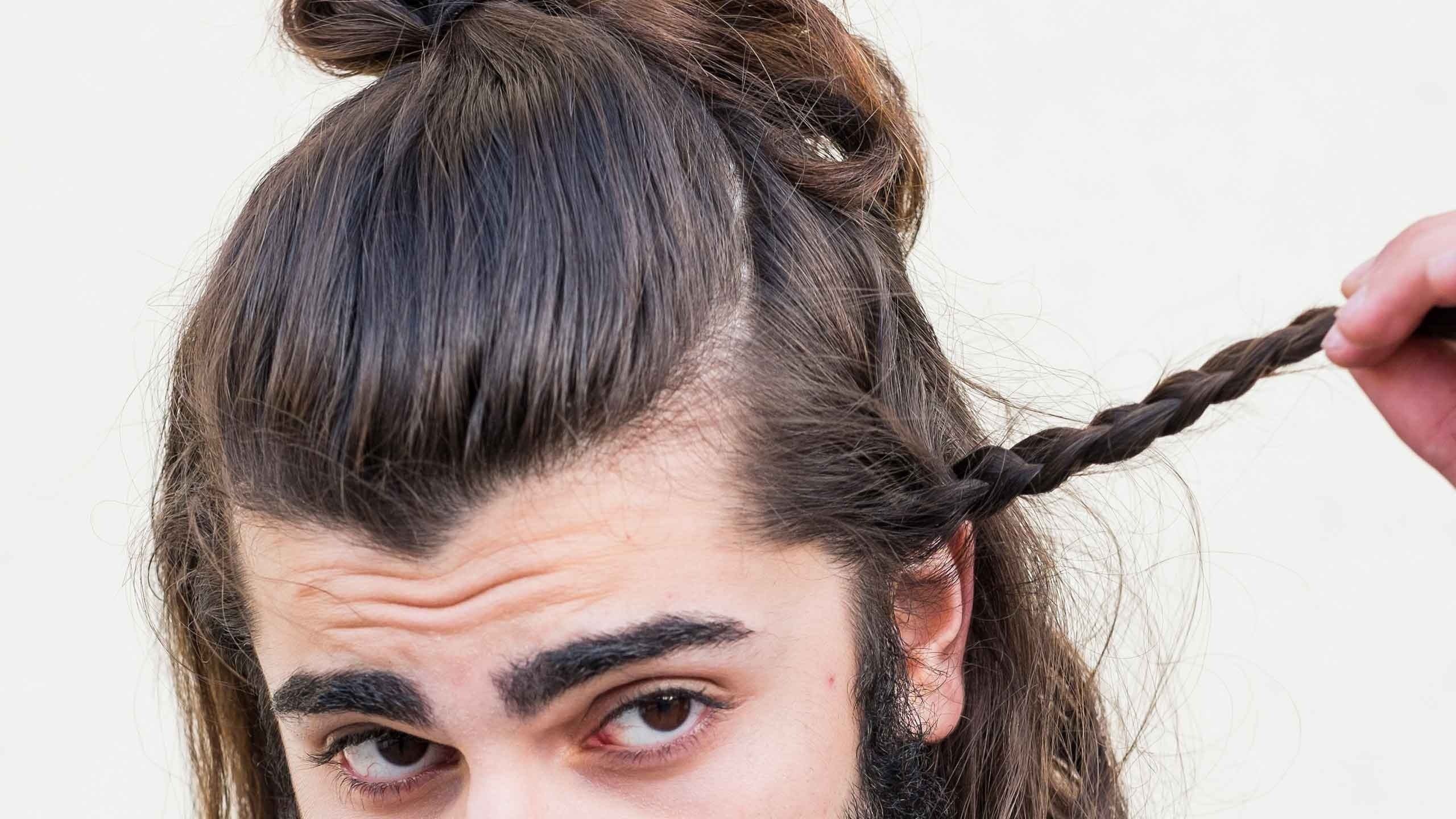мужские стрижки с косичко