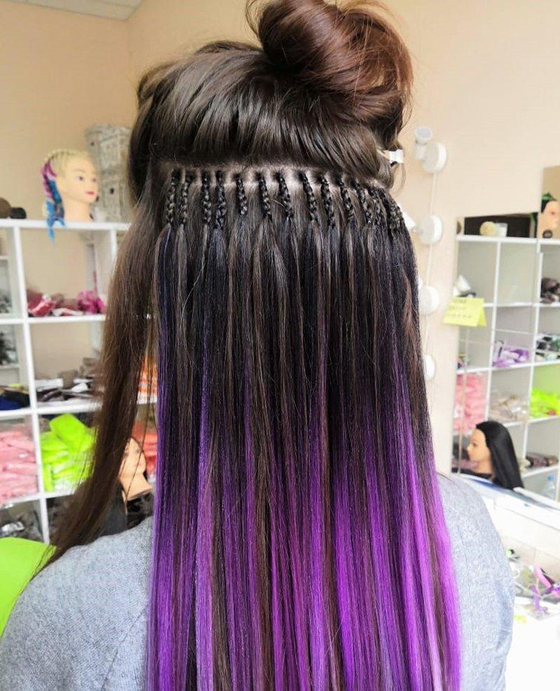 наращивание волос канекалоном