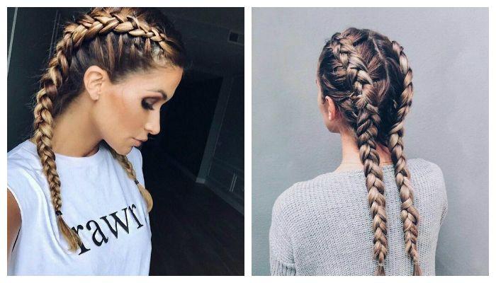 Двойная французскую коса