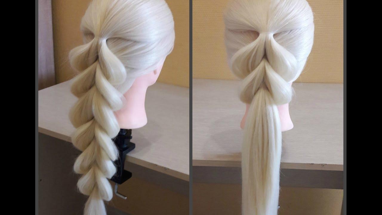 французские косы на длинные волосы
