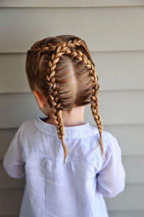 Плетение кос на средние волосы для девочек в садик
