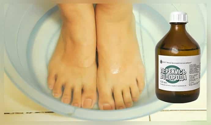 ванночка для ногтей с перекисью водорода