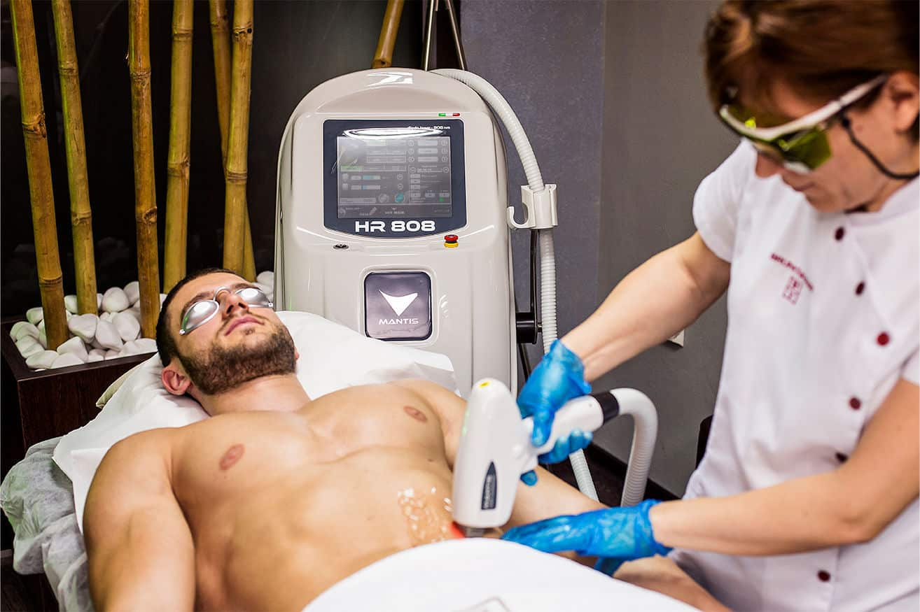 Интимной лазерной эпиляции у мужчин