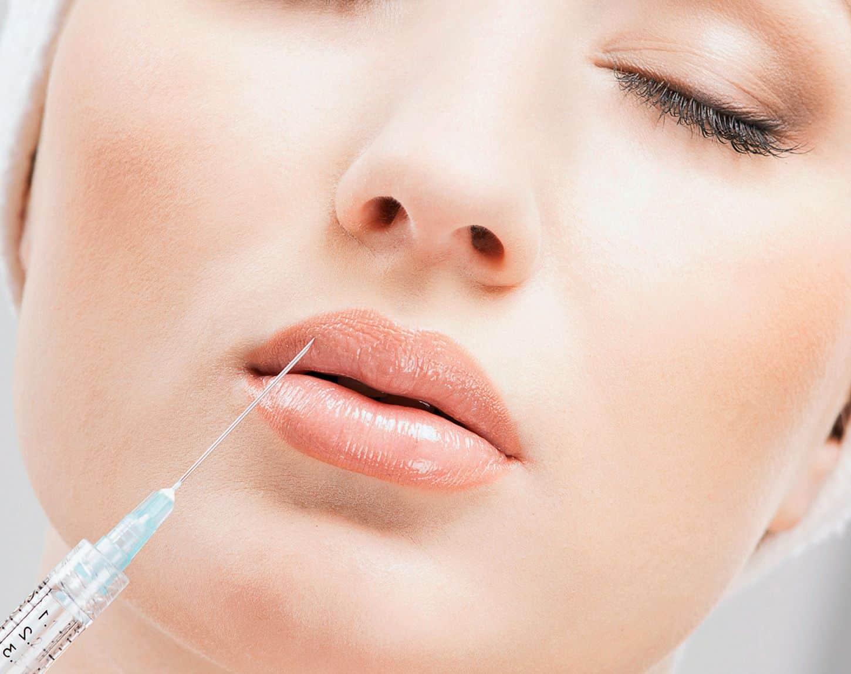Увеличения губ силиконом