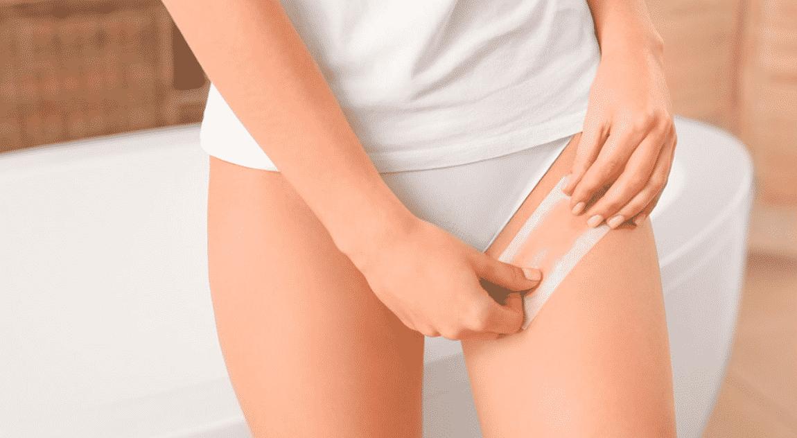 Депиляция бикини воском