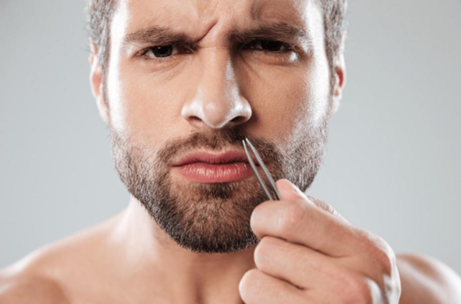 Удаление волос в носу
